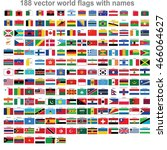 flags of world countries | Shutterstock .eps vector #466064627