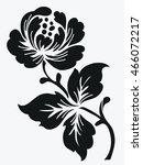flower motif for design. | Shutterstock .eps vector #466072217