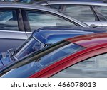 telephoto view of cars parked... | Shutterstock . vector #466078013