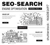 modern seo development pack.... | Shutterstock .eps vector #466081697