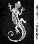 ornate gecko lizard in in... | Shutterstock .eps vector #466083587