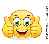emoticon showing thumb up | Shutterstock .eps vector #466084343