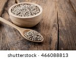 pepper in a bowl on wooden... | Shutterstock . vector #466088813