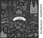 hand drawn doodle set of... | Shutterstock .eps vector #466096547