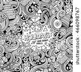 cartoon cute doodles hand drawn ... | Shutterstock .eps vector #466098767