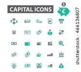 capital icons | Shutterstock .eps vector #466136807
