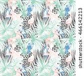 illustration tropical floral...   Shutterstock . vector #466142213
