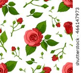 floral vector pattern with... | Shutterstock .eps vector #466147973