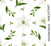 floral vector  pattern with... | Shutterstock .eps vector #466147997