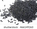 black sesame seeds  | Shutterstock . vector #466149263