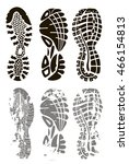 footprint sport shoes | Shutterstock .eps vector #466154813