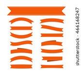 orange ribbon banners set.... | Shutterstock .eps vector #466168247
