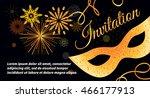 Black Vector Festive Invitatio...