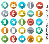clothing store icon. flat style ... | Shutterstock .eps vector #466185167