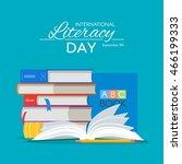 international literacy day... | Shutterstock .eps vector #466199333