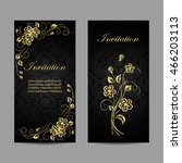 set of invitation cards design. ... | Shutterstock .eps vector #466203113