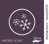 weather icon  snowflake sign | Shutterstock .eps vector #466203953