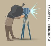 vintage photographer takes a... | Shutterstock .eps vector #466204433