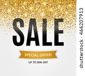 gold sale background for flyer  ... | Shutterstock .eps vector #466207913