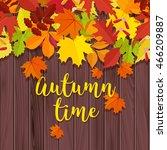 autumn background. frame for...   Shutterstock .eps vector #466209887