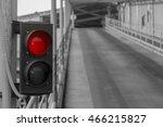 red traffic light. stop sign on ...   Shutterstock . vector #466215827