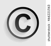 copyright sign illustration.... | Shutterstock . vector #466221563