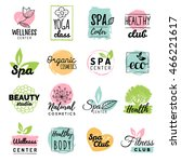 vector health and beauty care... | Shutterstock .eps vector #466221617