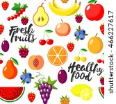 fresh fruits flat style... | Shutterstock . vector #466227617