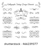 ornate frame elements. vintage... | Shutterstock .eps vector #466239377