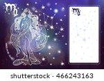 virgo zodiac sign.horoscope... | Shutterstock .eps vector #466243163
