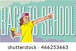 back to school retro style... | Shutterstock .eps vector #466253663