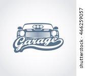vintage car garage service logo ... | Shutterstock .eps vector #466259057
