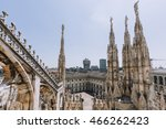 view from milan cathedral ... | Shutterstock . vector #466262423