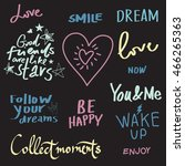 set of quotes typographical... | Shutterstock .eps vector #466265363