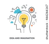 idea and imagination | Shutterstock .eps vector #466266167