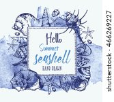 watercolor background with... | Shutterstock .eps vector #466269227