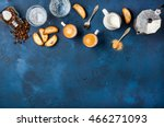 coffee espresso in cups with...   Shutterstock . vector #466271093