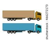 cargo truck vector illustration ...   Shutterstock .eps vector #466272173
