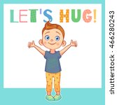 "funny colorful vector card ""let'... 