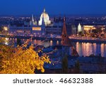 evening view on the danube and... | Shutterstock . vector #46632388
