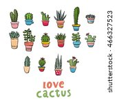 cactus pattern | Shutterstock .eps vector #466327523