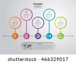 timeline infographic design... | Shutterstock .eps vector #466329017