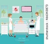 ecg test or the cardiac test ... | Shutterstock .eps vector #466343873
