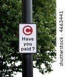 Warning Sign At The London...