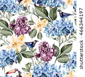 colorful watercolor pattern... | Shutterstock . vector #466344197