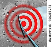 concept of target as a blurry... | Shutterstock . vector #466355273