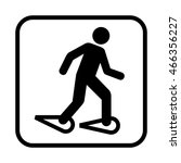 Snowshoeing Icon. Flat Vector...