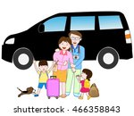 the trip by car which is... | Shutterstock .eps vector #466358843