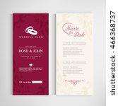 vintage wedding card...   Shutterstock .eps vector #466368737