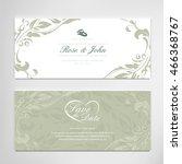 vintage wedding card... | Shutterstock .eps vector #466368767